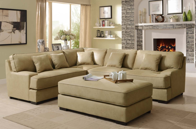 Wondrous Modern Beige Leather Sectional Sofa Madison Art Center Design Evergreenethics Interior Chair Design Evergreenethicsorg
