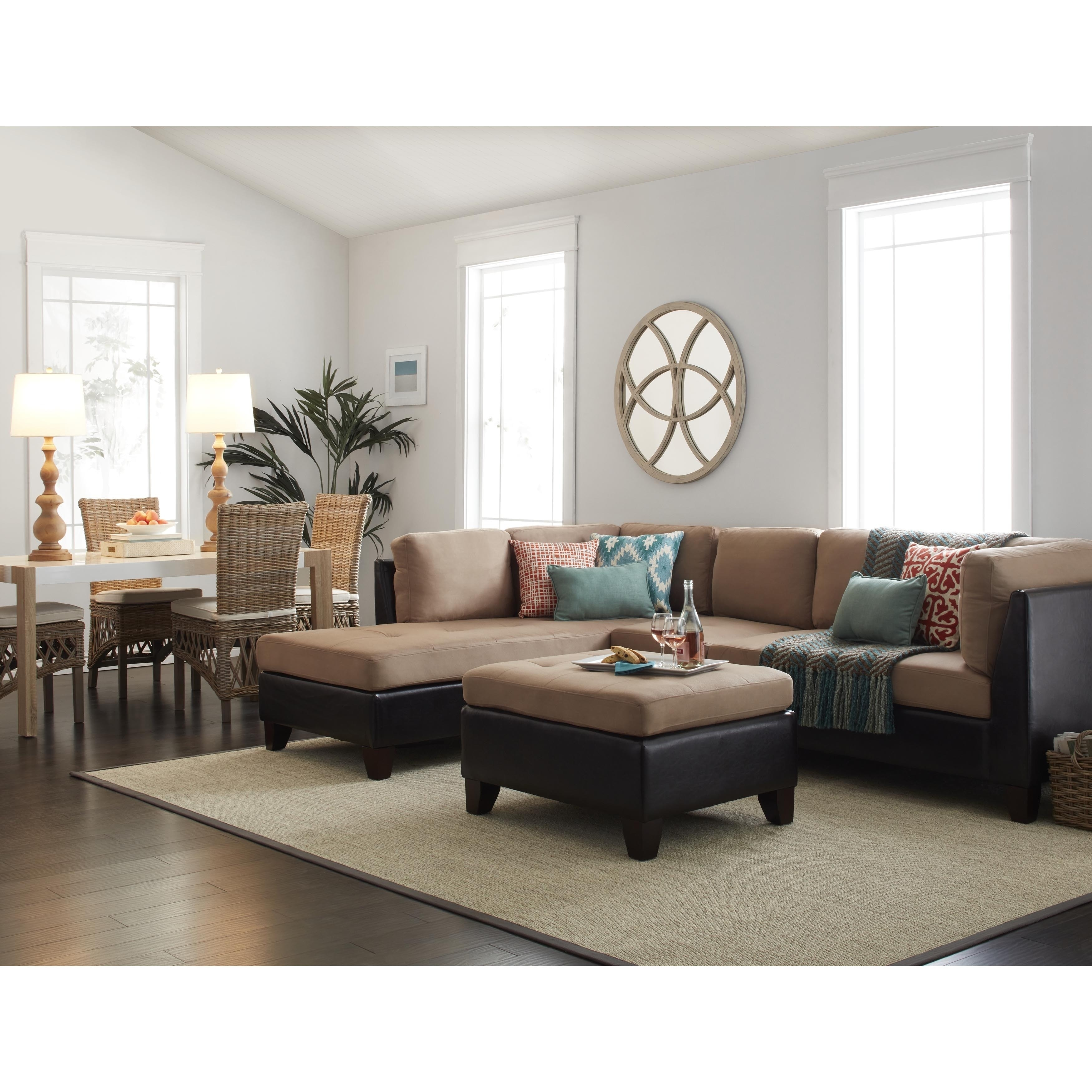 Madison Art Center Design: Modern Beige Leather Sectional Sofa