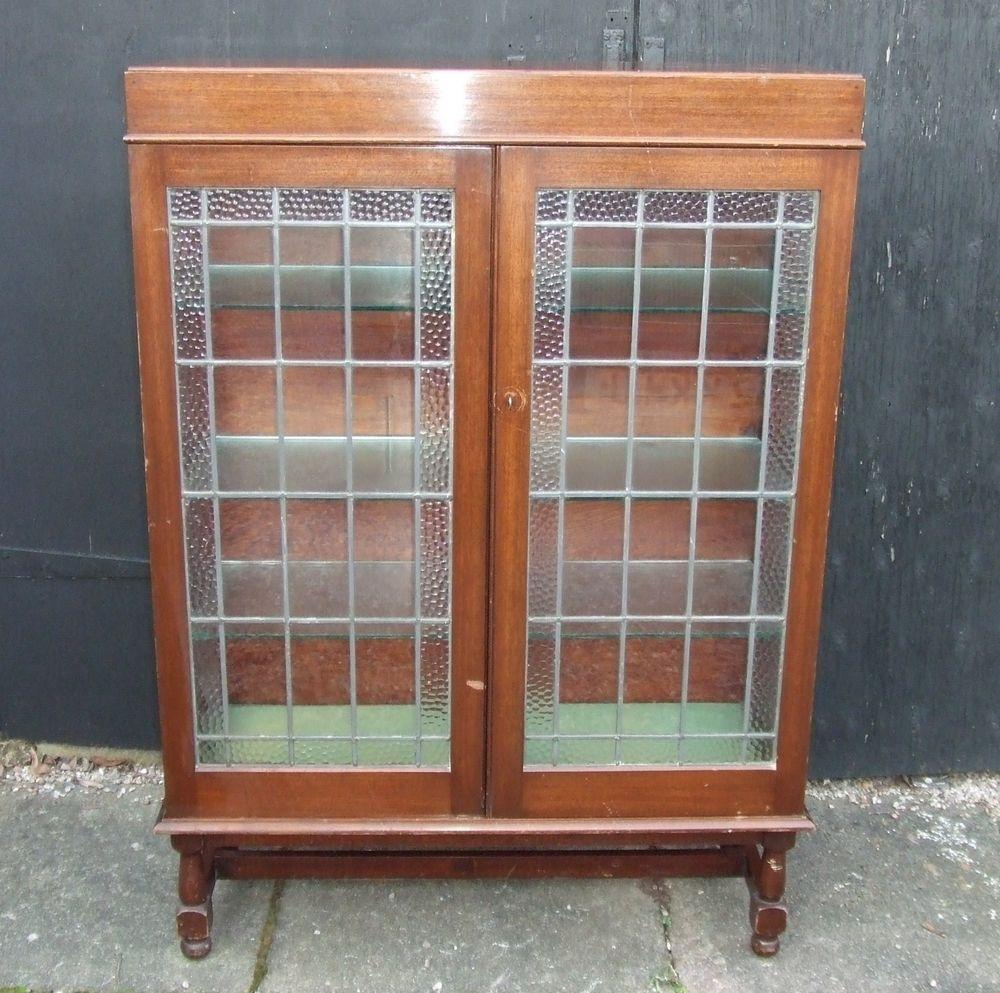 Oak Glass Door Display Cabinet