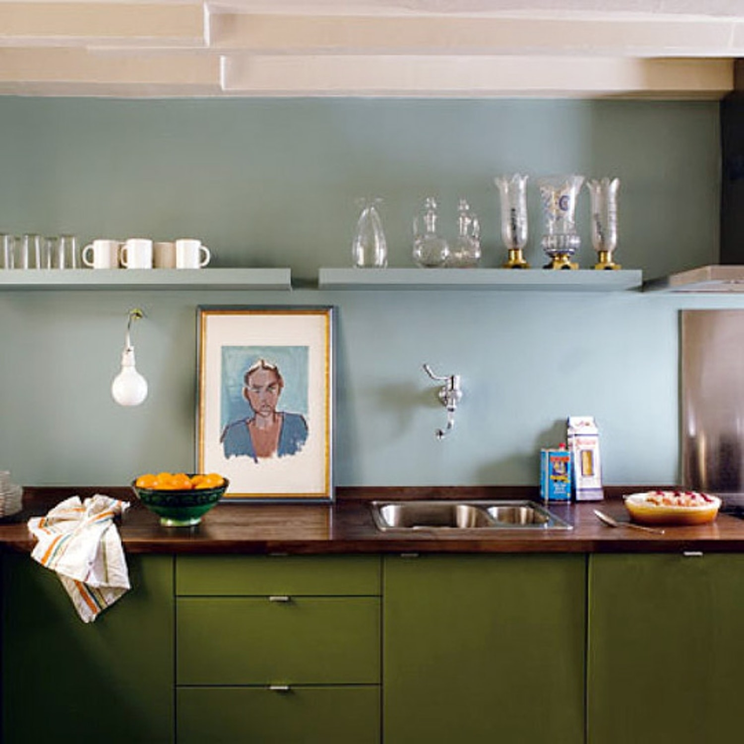 Olive Green Kitchen Decor: Madison Art Center Design