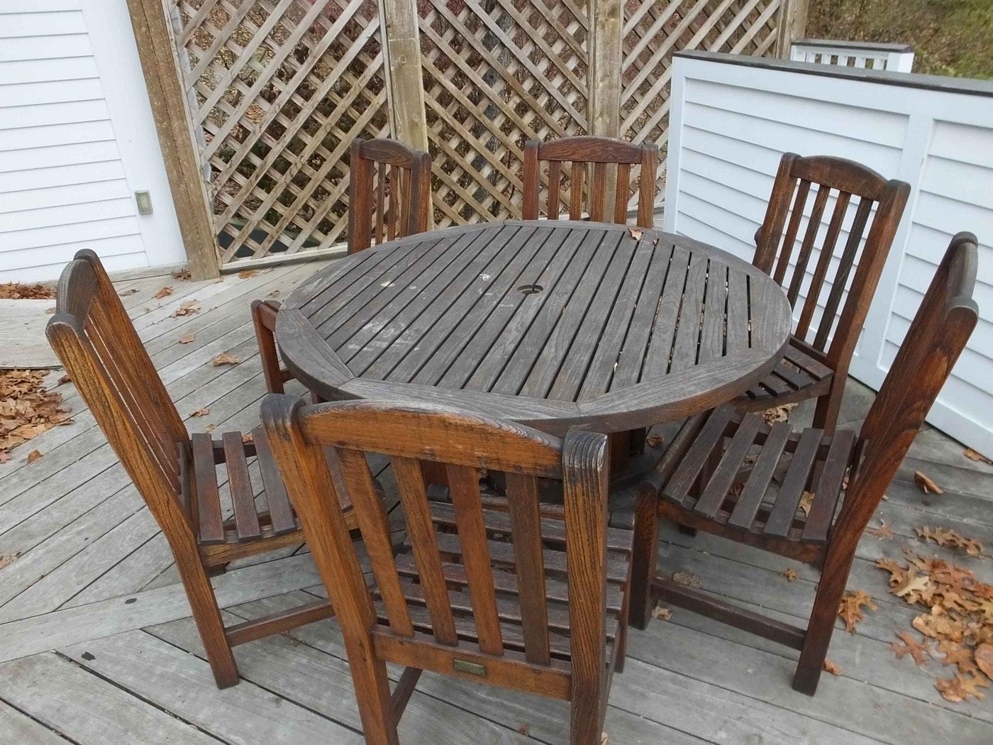 Rustic Teak Smith And Hawken Outdoor Furniture