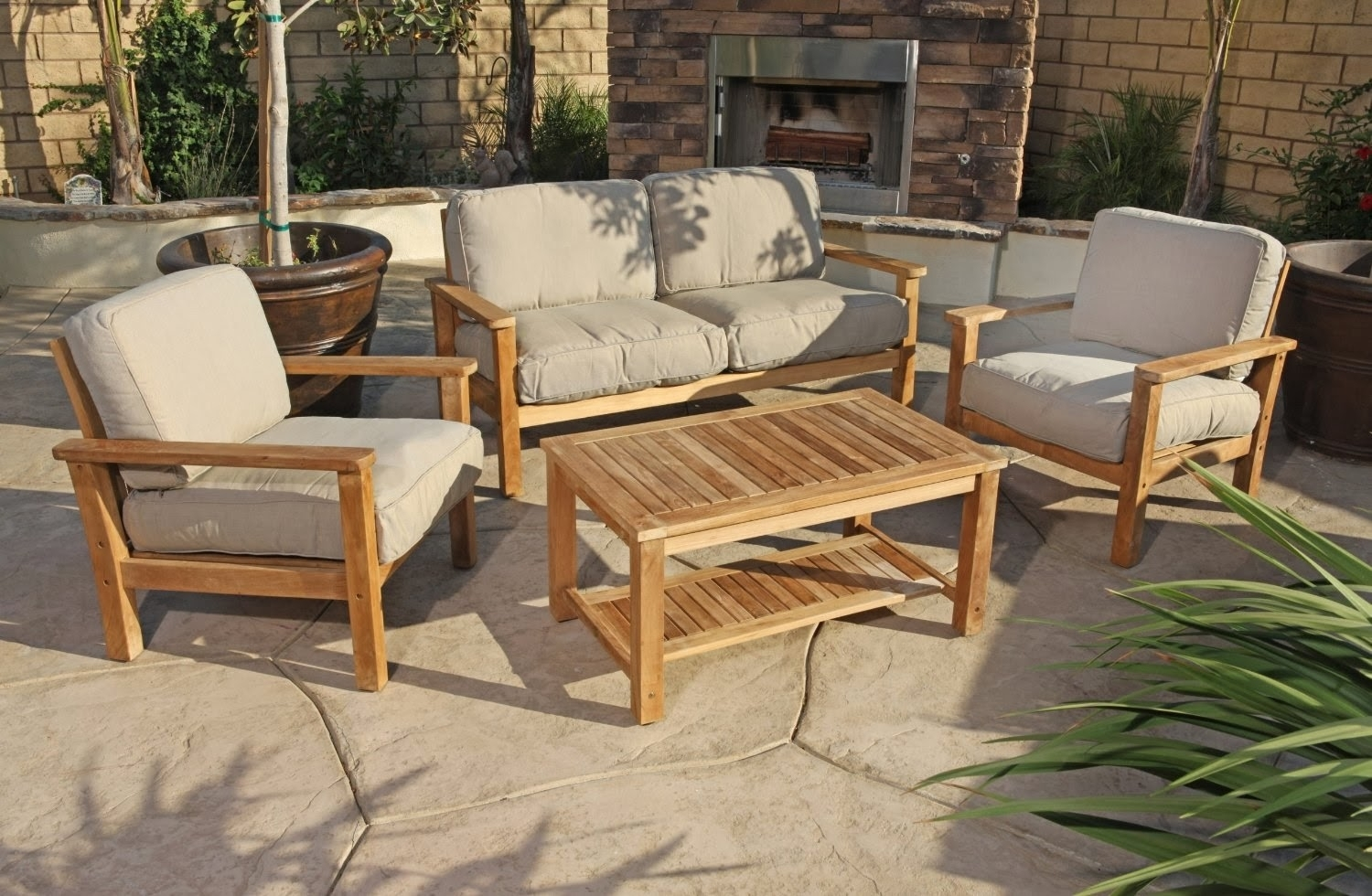 Simple Teak Smith And Hawken Outdoor Furniture