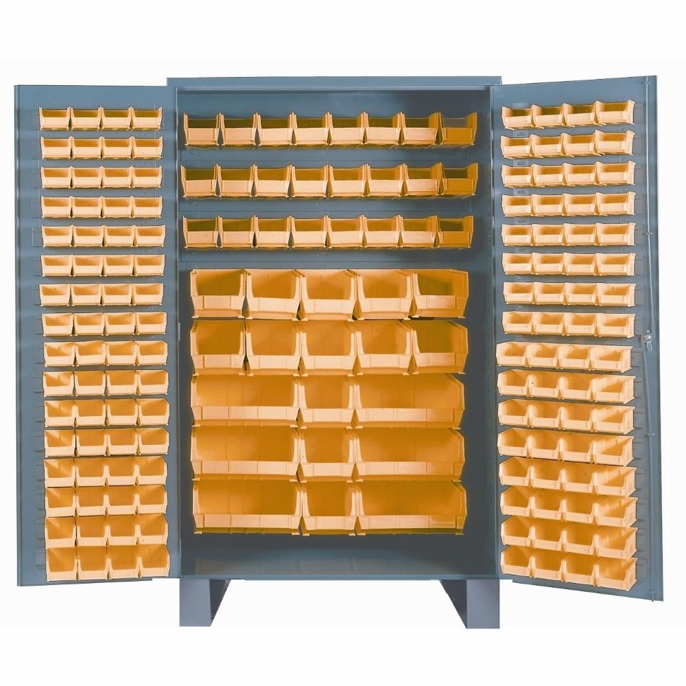 Madison Art Center Design: Stackable Plastic Storage Bins Blue