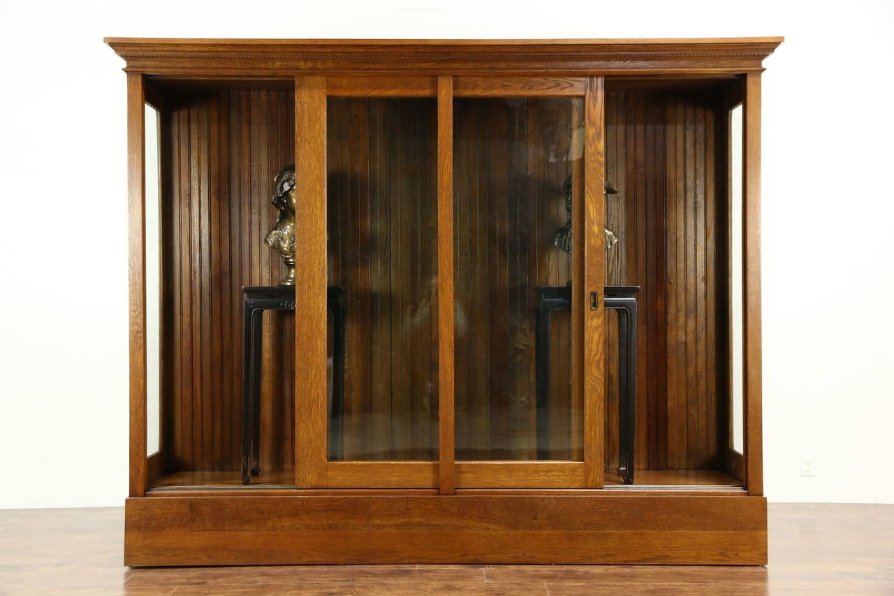 Tall Glass Door Display Cabinet