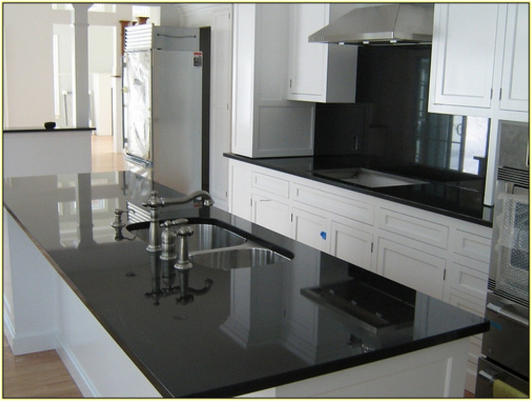 White Cabinets With Dark Granite Countertops