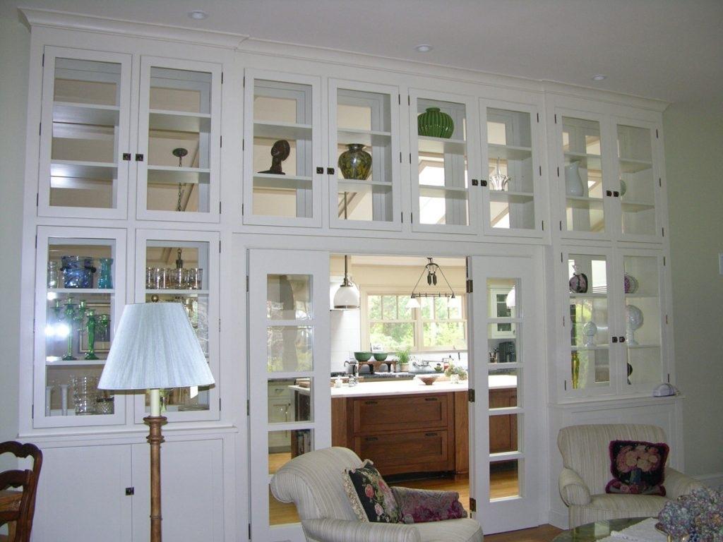 White Glass Door Display Cabinet