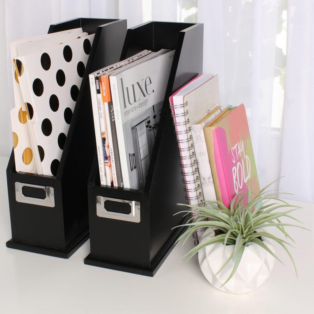 Madison Art Center Design: Wood Magazine Holder Organizer