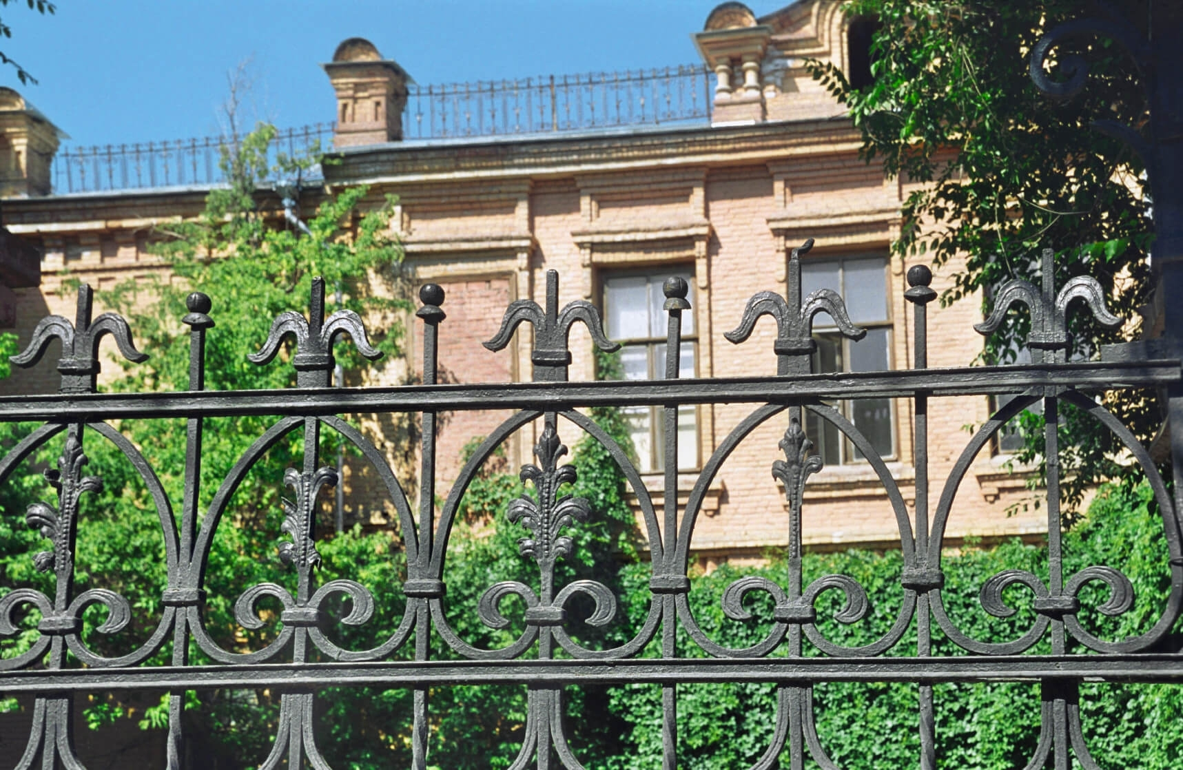 Wrought Iron Fence On Retaining Wall
