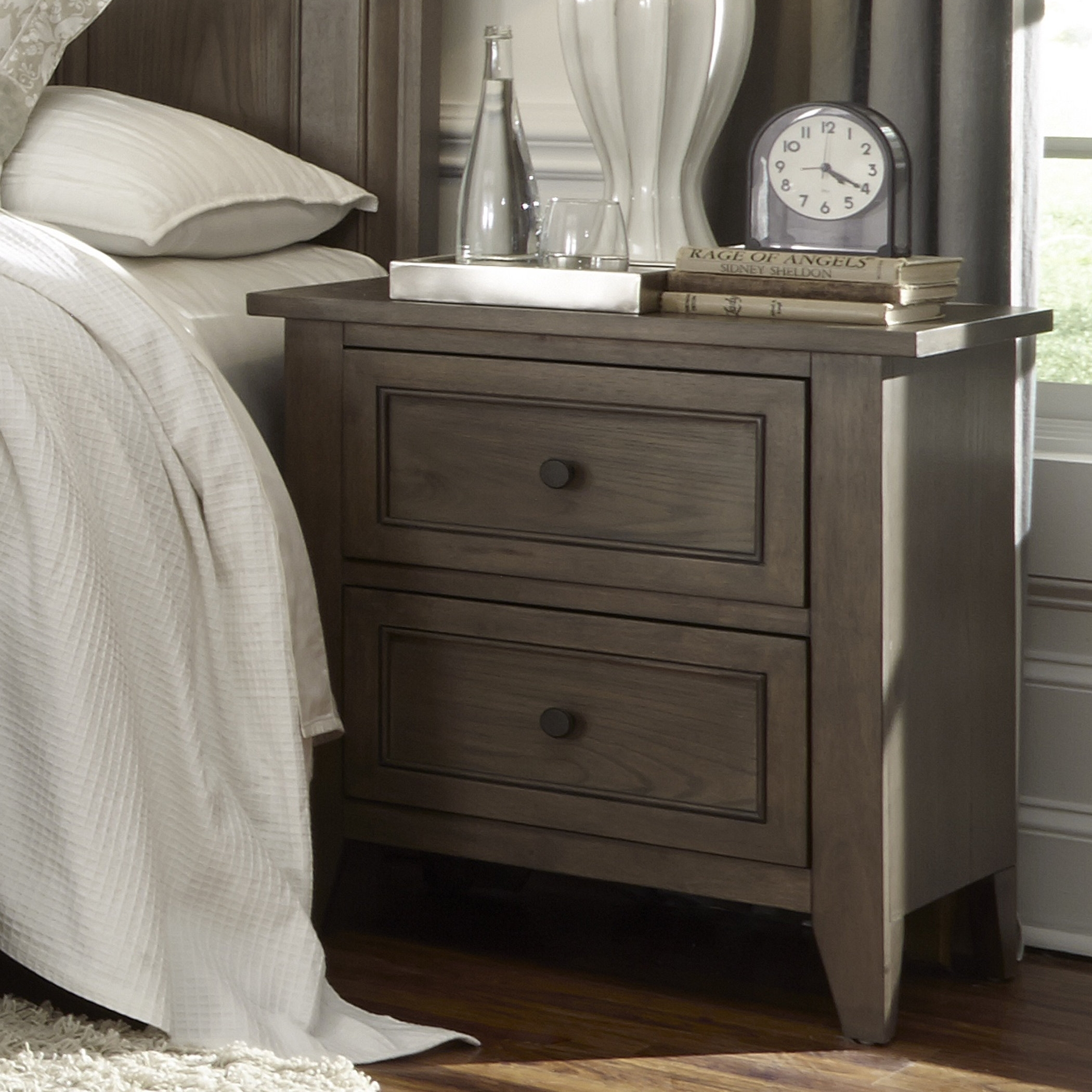 2 Drawer Mirrored Nightstand Madison Art Center Design