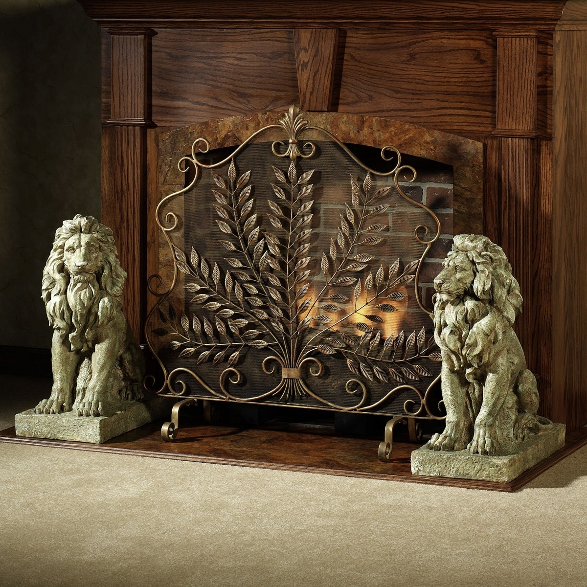 Madison Art Center Design: Classic Wrought Iron Fireplace Screens