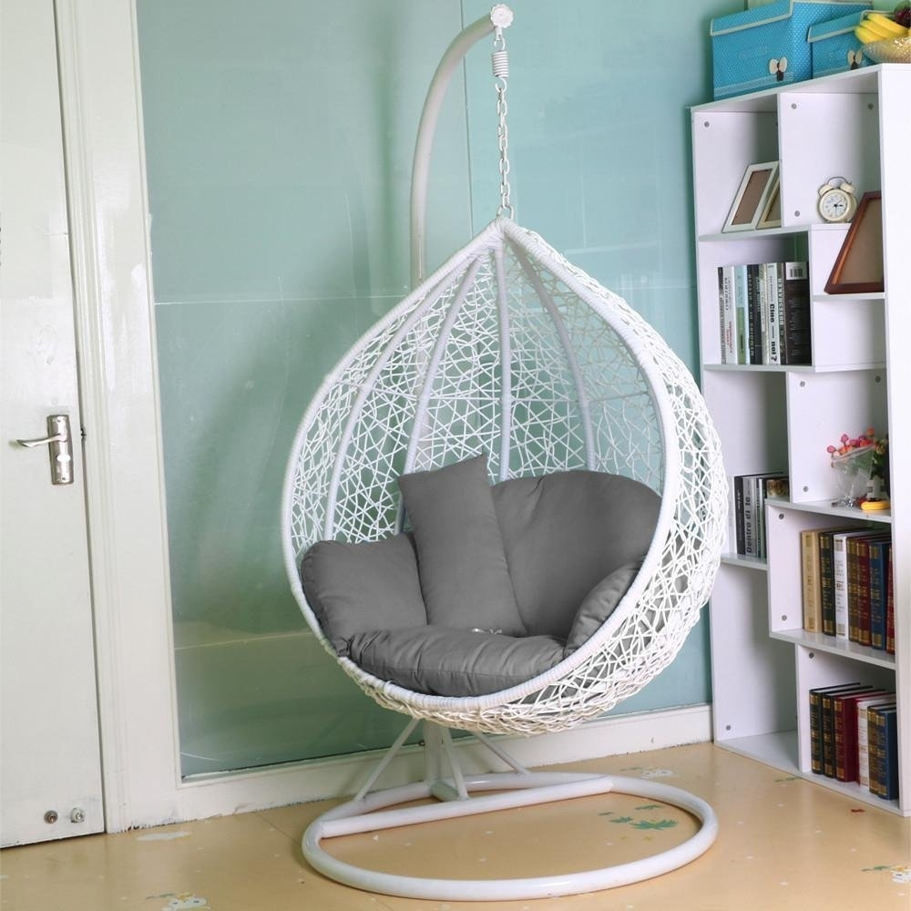 Madison Art Center Design: Cocoon Wicker Rattan Patio Swing Chair
