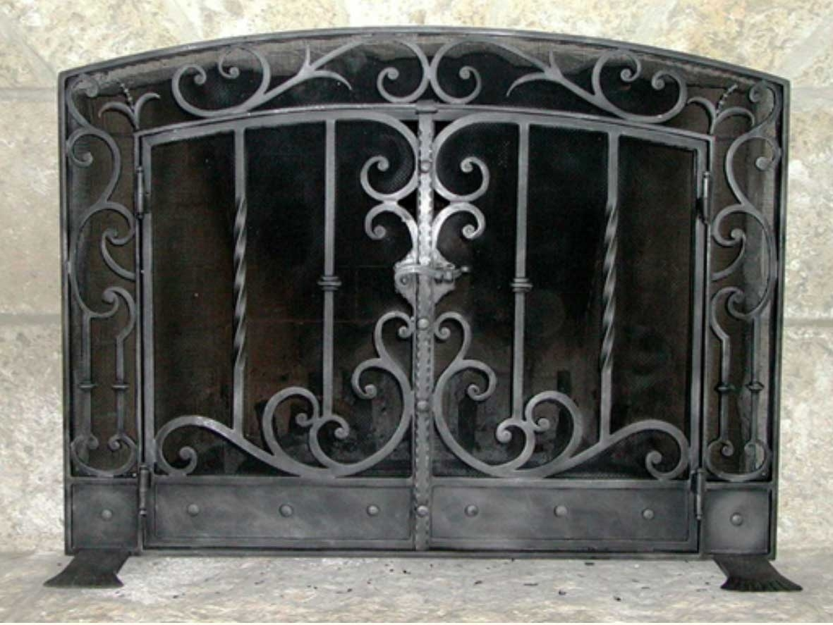Decorative Wrought Iron Fireplace Screens Madison Art Center Design