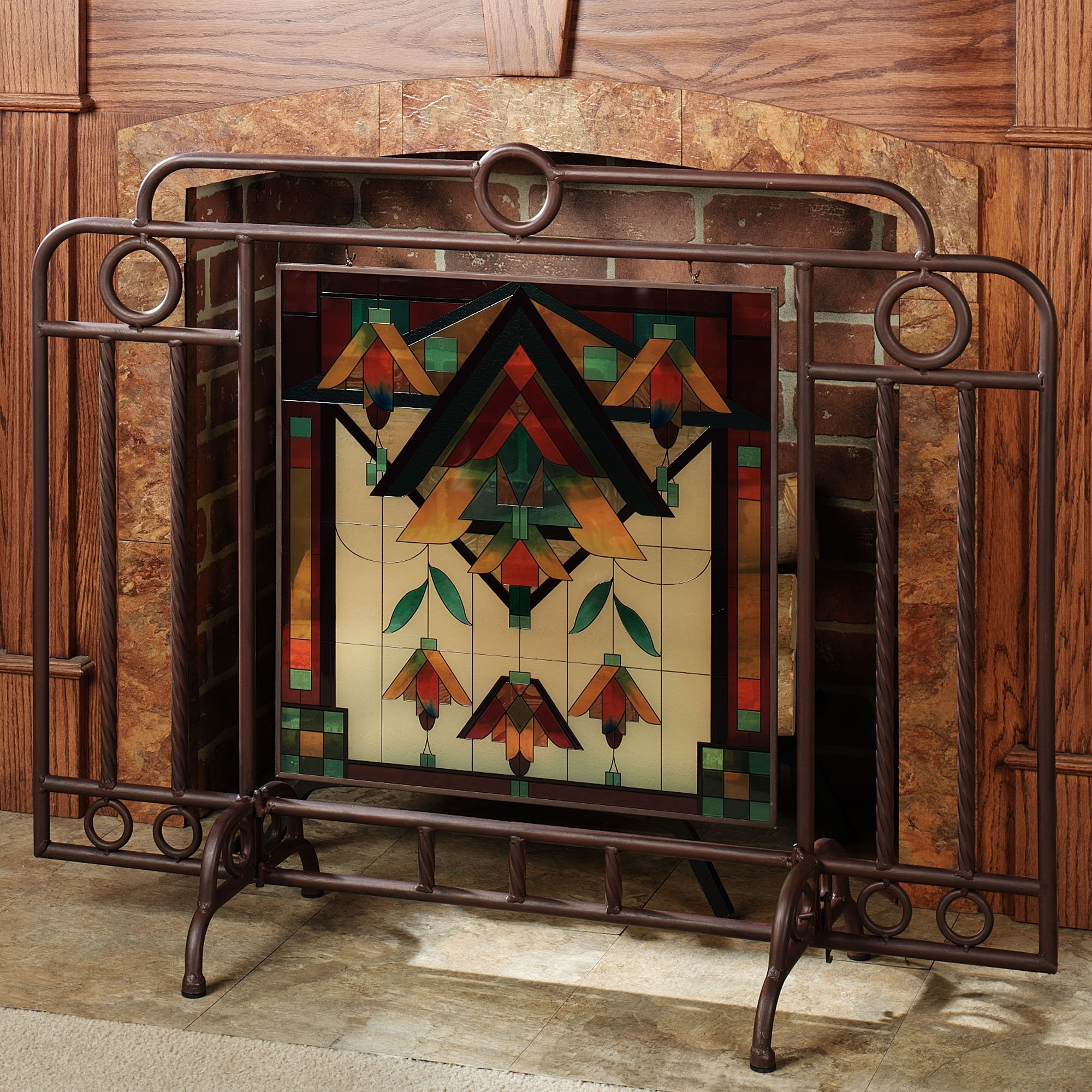 Madison Art Center Design: To Install Wrought Iron Fireplace Screens