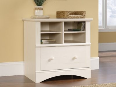 Lateral White File Cabinet