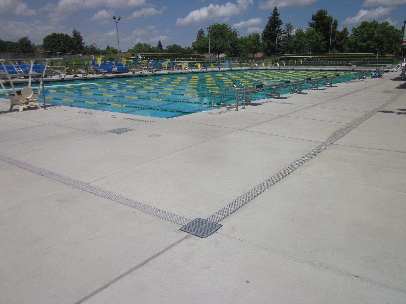 Pool Deck Drain Channel Clogged – Madison Art Center Design
