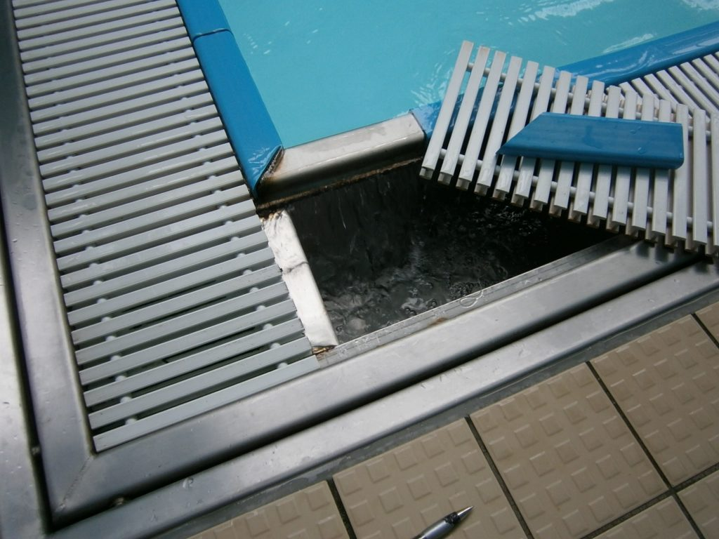How to install pool deck drain madison art center design - Swimming pool deck drain channels ...