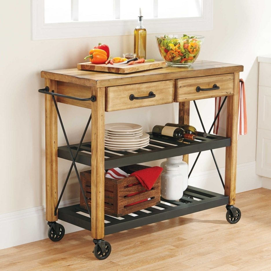 Madison Art Center Design: Small Rolling Cart Coffee Table