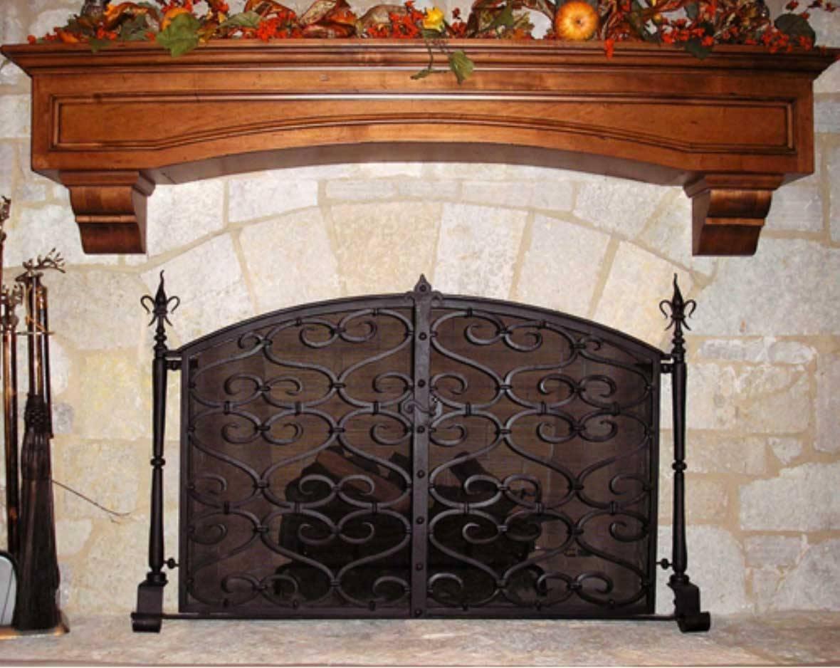 Small Fireplace Screens Wrought Iron