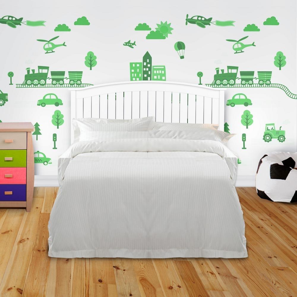 Madison Art Center Design: White Wood Panel Headboard