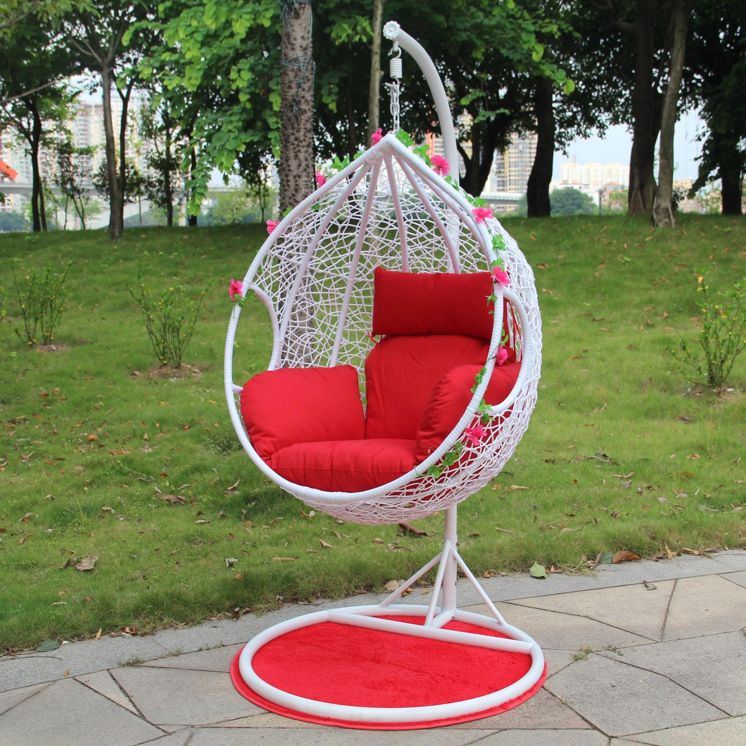 Lovely Wicker Swing Chair Madison Art Center Design