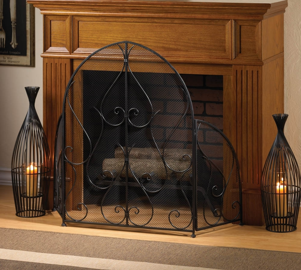 Wrought Iron Fireplace Screens Decorative Madison Art Center Design
