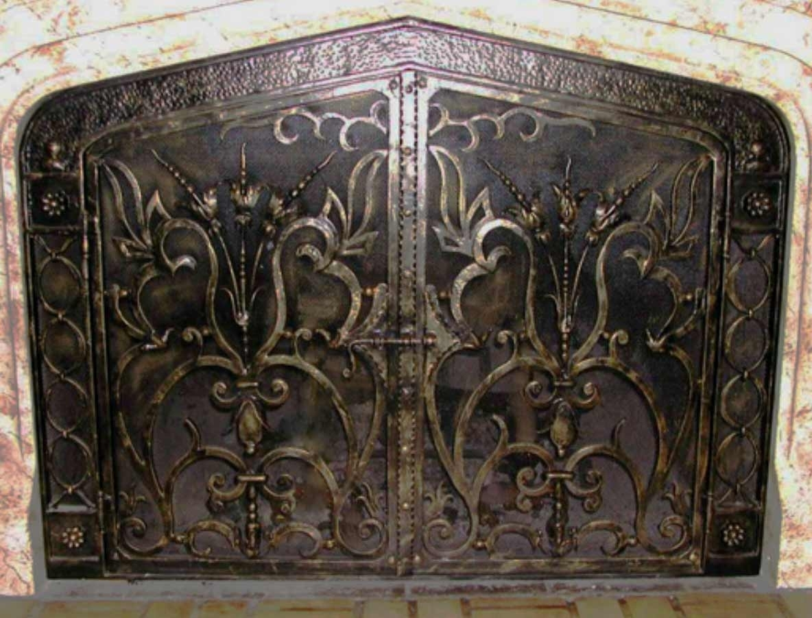 Wrought Iron Fireplace Screens With Doors Madison Art